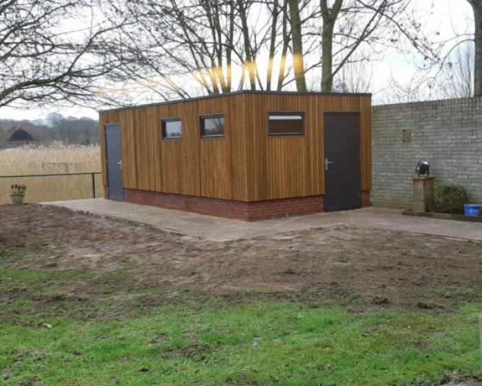 Sponsoring bouw schuur Ronald Mc Donald Huis Zwolle